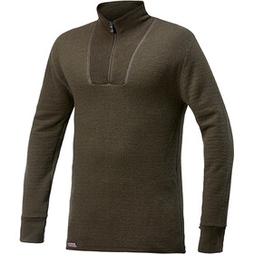 Woolpower 400 Zip Turtle Neck pine green
